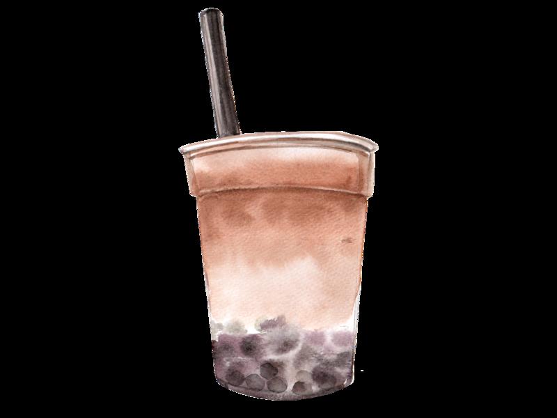 Bubble Tea watercolor