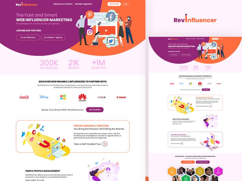 Influencer Marketing Web Design website design web design ui design