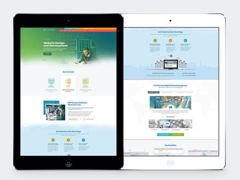 Design Agency Website Design user interface design web template website design design agency graphic design ui design web design design