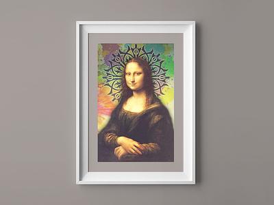 Mona Lisa Photoshopped digital imaging image manipulation photoshop painting photoshopped mona lisa monalisa design graphic design