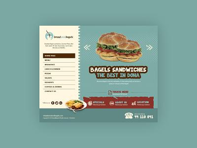 Food Website Homepage website design home page design food food and drink ui design graphic design web design design