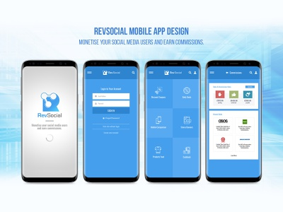 RevSocial - Mobile App Design design uidesign app design mobile app design mobile app mobile