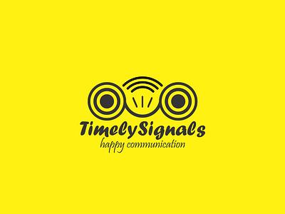 Timely Signals Logo Design logo design branding design brand identity branding graphic design illustration logo vector