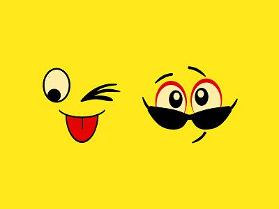Fun and Smile illustration free vector vector graphic design