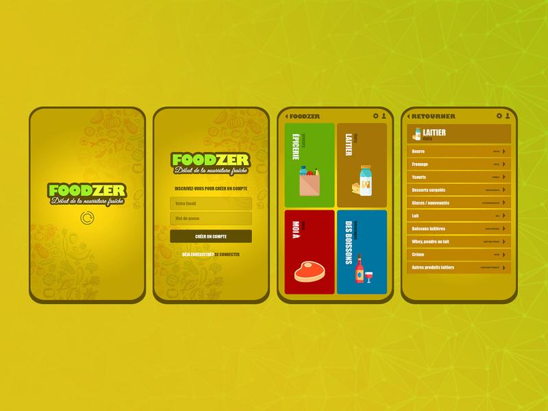 Online Grocery Store - Mobile App app design grocery store mobile mobile app