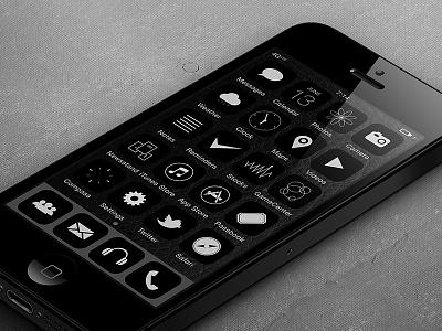 iOS7 BKNY mod ios7 iphone5 icons ui black brooklyn newyork nyc