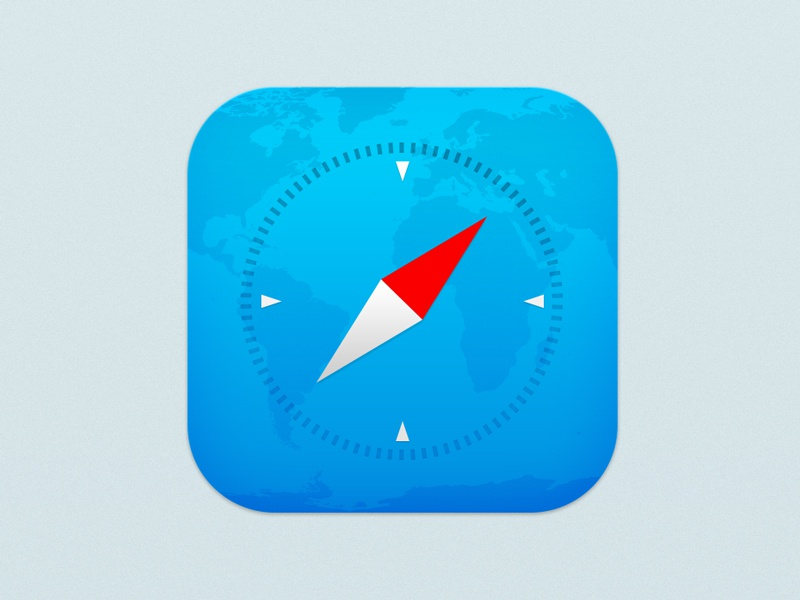 Safari for iOS 7 safari ios7 flat notflat ui icon ios iphone5 map