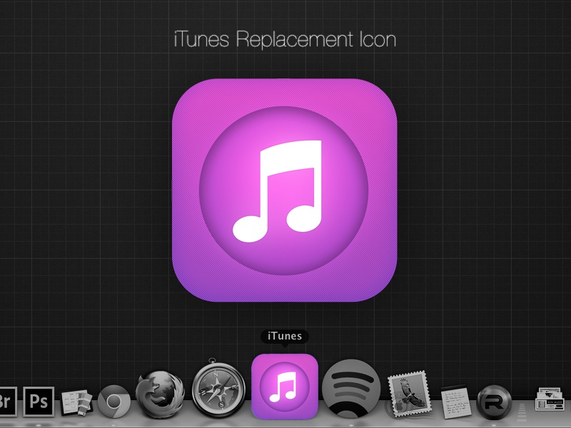iTunes for OS X inspired by iOS 7 itunes ios7 osx mavericks replacement icns purple music