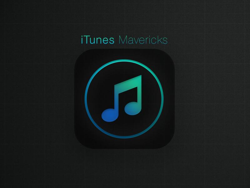 iTunes Mavericks itunes ios7 osx mavericks replacement icns music