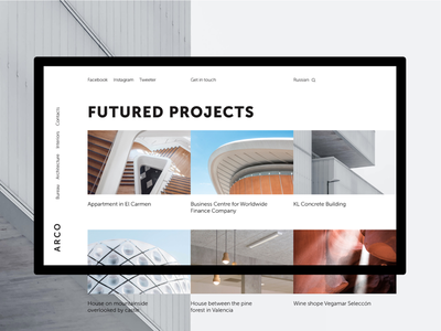Website for Architects desktop architecture uiux ux ui web website