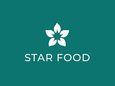 Star Food Logo sport healthy health delivery food minimal icon design sign logotype identity branding symbol logo