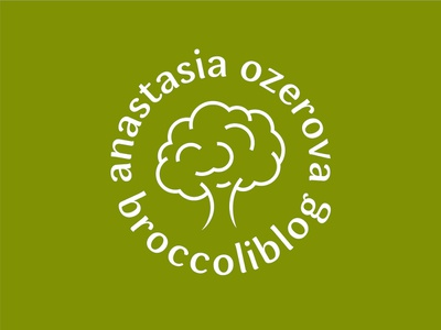 Broccoliblog Logo nature eco green broccoli food healthy food health minimal sign logotype identity branding symbol logo