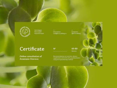 Broccoliblog Certificate Design