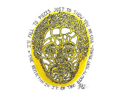 Jas2 SelfPortrait self portrait graphic design sketch inked illustration