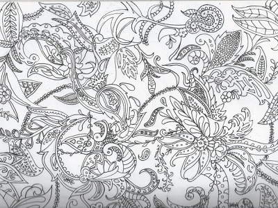 James Hoody Pattern pattern floral art graphic illustration design