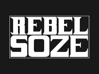 Rebel Soze 2.0 branding logo design
