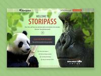 Storipass Landing UI