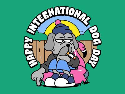 🐶 [sound on] backyard cat character animation after effects ae internationaldogday dog