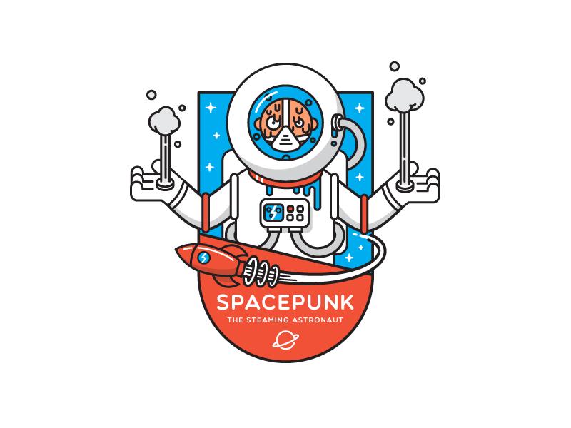 Spacepunk sticker
