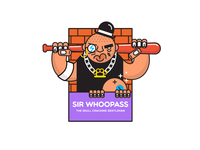 Sir Whoopass sticker