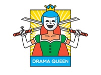 Drama Queen sticker