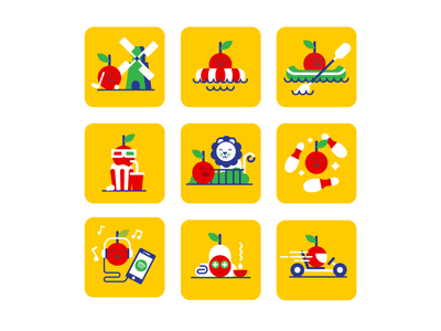 Cherry Pick icons(Vodafone) cherry icons vodafone flat characters