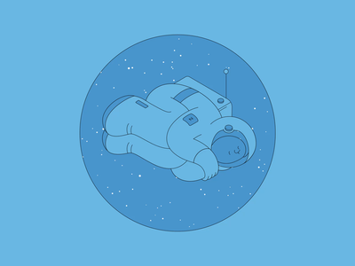 snooze cosmos astronaut space character animation after effects
