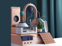 My first C4D practice