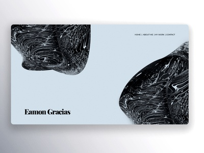 Personal Online Folio Design concept