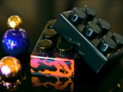 Catchy 2d 3d render eyeballanimation random motion design ball cube autodesk maya 3d colors