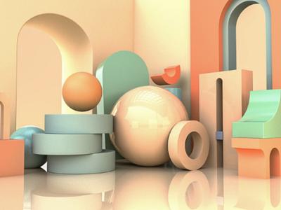 Abstract 3D 3d art ui shapes eyeballanimation abstract 3d