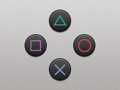 PlayStation Buttons fireworks vector buttons video games sony playstation