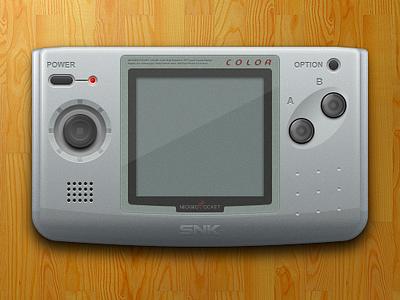 Neo Geo Pocket Color - Sketch controller openemu sketchapp neo geo vector console video games