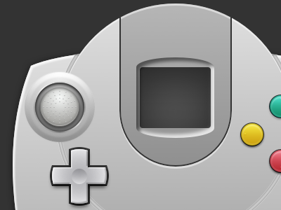 Dreamcast Controller: Start video games openemu vector sketchapp