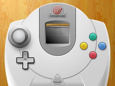 Dreamcast Controller Final video games vector sketchapp openemu
