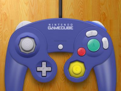 Gamecube Controller Final controller video games vector sketchapp openemu