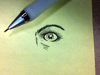 Eye Lead sketch illustration eye lead
