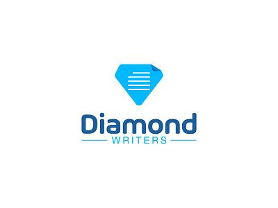 DiamondWriters diamonds jewelry words paper book pen writers writer diamond minimalist simple vector icon logodesign logo
