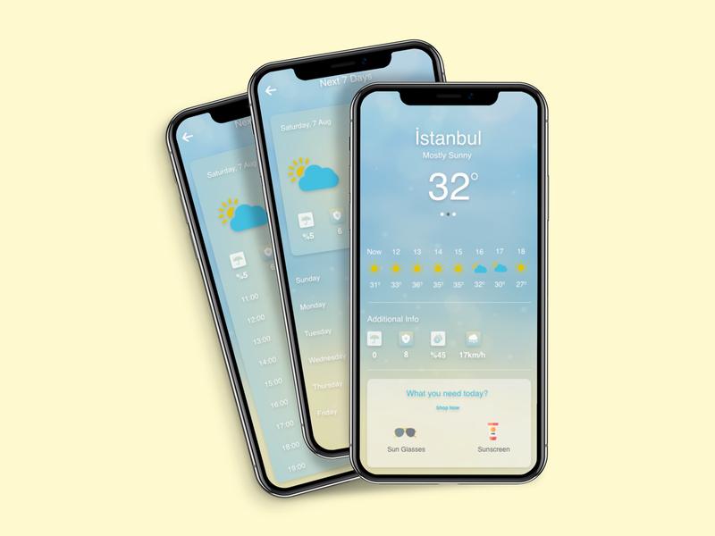 Weather App weather app ui design mobile app