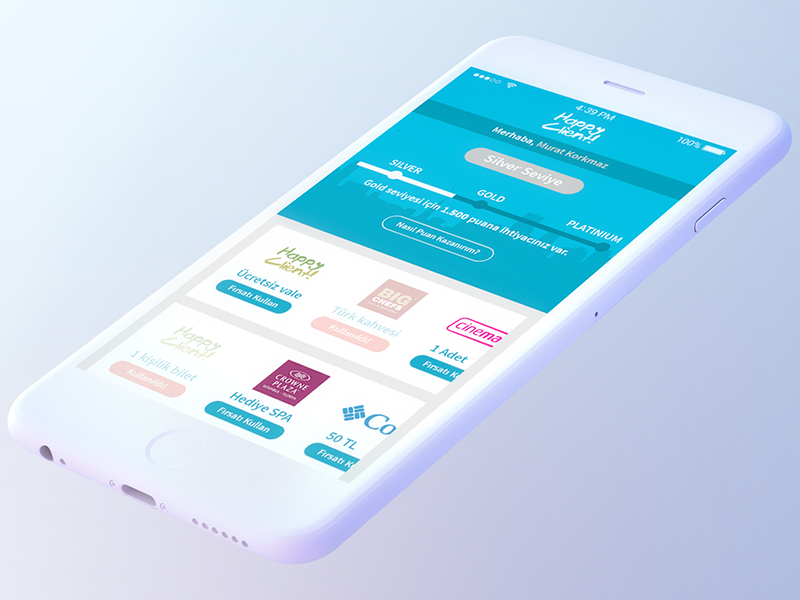 Mobile Loyalty App(Homepage) mobile application loyalty project gamification