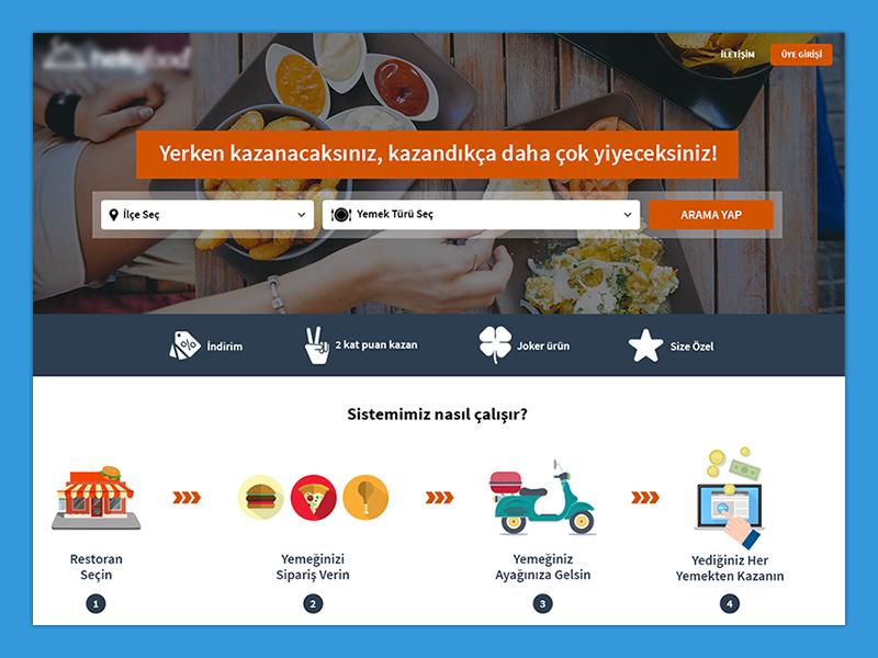 Web Design (Food Delivery) food delivery homepage web design