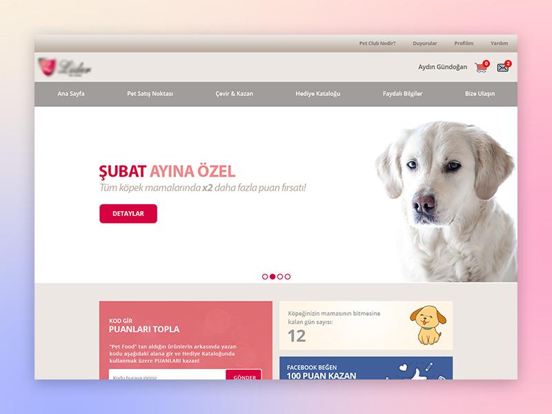 Pet Shop Loyalty home page web site