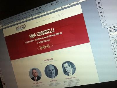 Mba Signorelli - Single Page clean single page web design layout webdesign design responsive ui minimal css3 photoshop