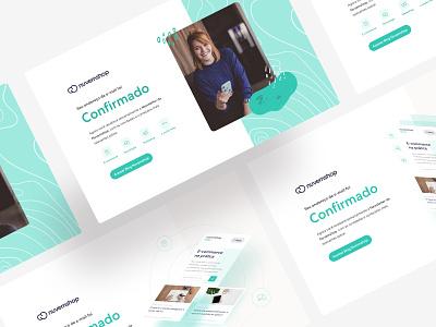Confirmation Page - explorations confirm blog web ux illustration icon landing page ui webdesign design