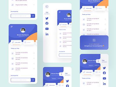 Links for all ux design mobile ui minimal interface app design uxdesign uidesign mobile links design ui app