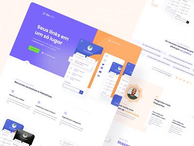 Bio.links - Landing Page figma design ux ui open source mobile responsive userexperience dailyui appdesign userinterface uidesign minimal layout landing page webdesign ui