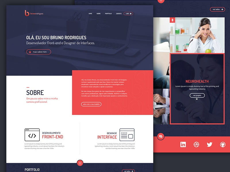 Personal Website by Bruno Rodrigues - Dribbble