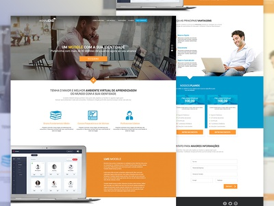 LMS Single Page website clean lms webdesign layout princing table ui design landing page