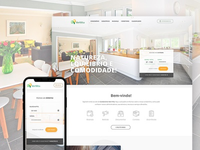 Dynamic website for condominiums layout website webdesign landing page mobile real estate ui