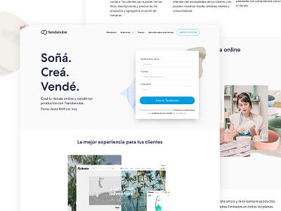 Landing Page Tienda Online - Tiendanube theme collage form creative art app ux design ui webdesign landing page